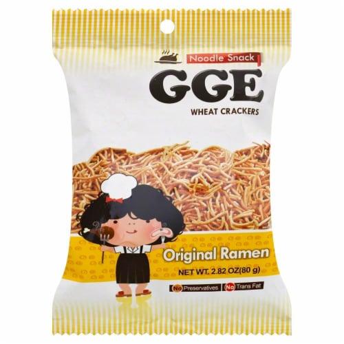 Good Good Eat Original Ramen Wheat Crackers Perspective: front