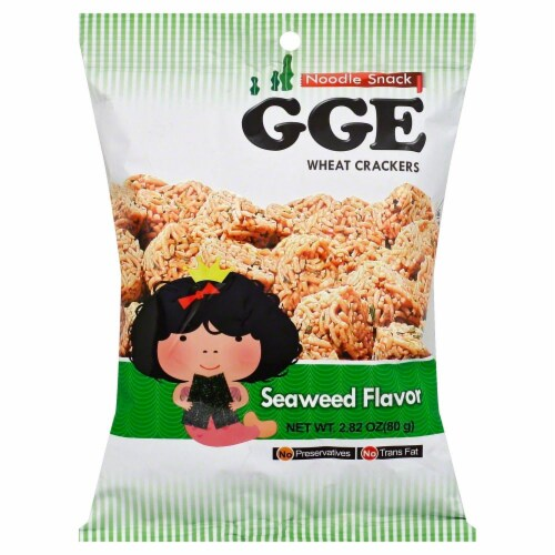 GGE Seaweed Flavor Wheat Crackers Perspective: front