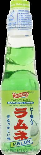 Shirakiku Melon Ramune Soda Perspective: front