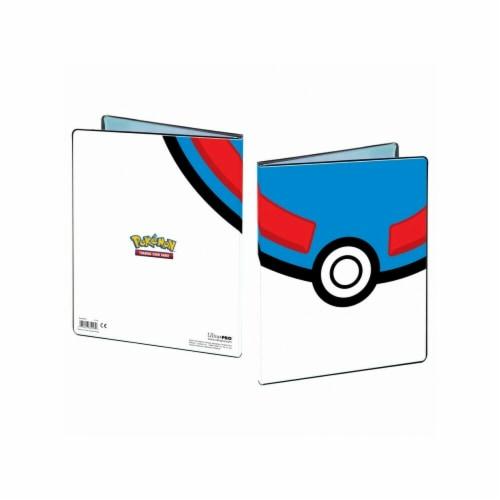 Ultra Pro ULP85452-P Binder 4 Pocket Portfolio Pokemon Great Ball Card Accessories Perspective: front