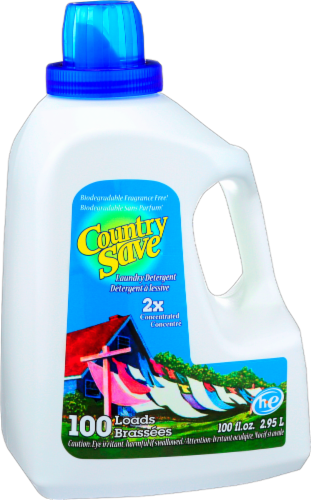 Country Save Liquid Laundry Detergent 100 Loads Perspective: front