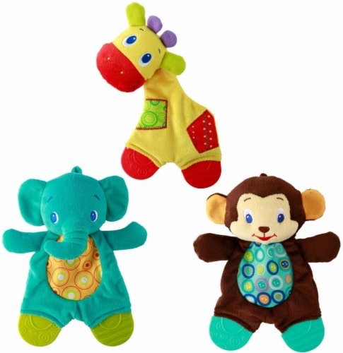Bright Starts Snuggle & Teethe Plush Teether - Assorted Perspective: front