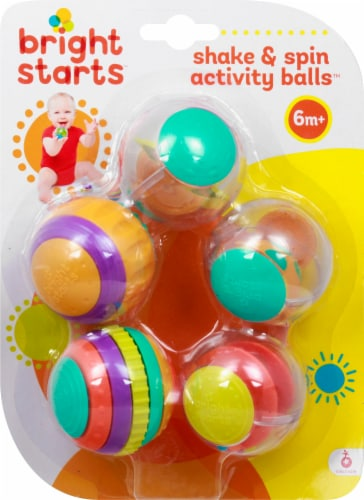 Bright Starts Shake and Spin Activity Balls Infant Toy Perspective: front