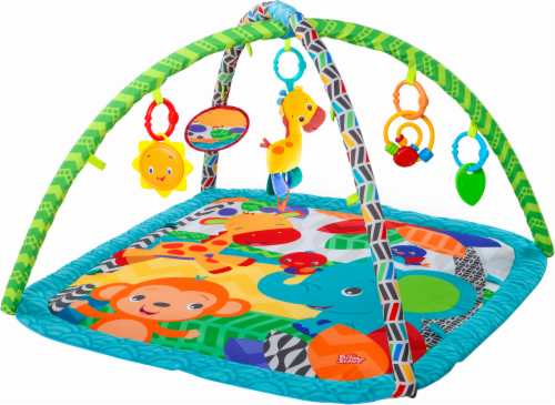 Bright Starts™ Zippy Zoo Infant Activity Gym - Blue Perspective: front