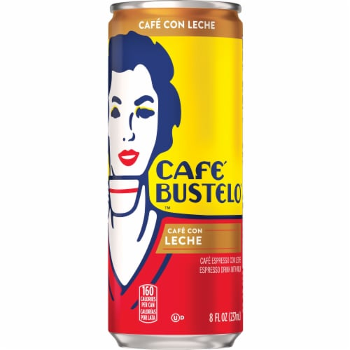 Cafe Bustelo Cafe Con Leche Espresso Drink with Milk Perspective: front