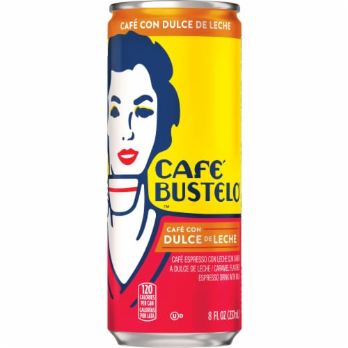 Cafe Bustelo Cafe Con Dulce de Leche Caramel Espresso Drink with Milk Perspective: front