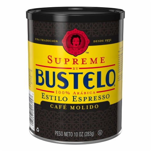 Cafe Bustelo Supreme Espresso Style Ground Coffee Perspective: front