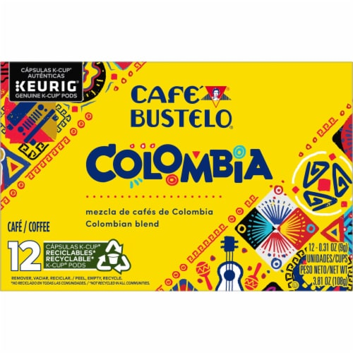 Cafe Bustelo Colombian Coffee K-Cup Pods Perspective: front