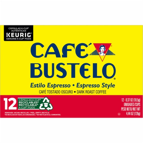 Cafe Bustelo Espresso Style Coffee K-Cup Pods Perspective: front