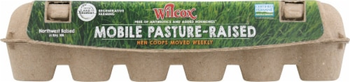 Wilcox Mobile-Pasture Raised Large Brown Eggs Perspective: front