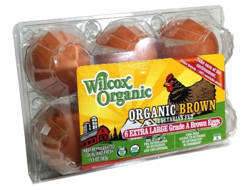 Wilcox Organic Grade A Extra Large Brown Eggs Perspective: front