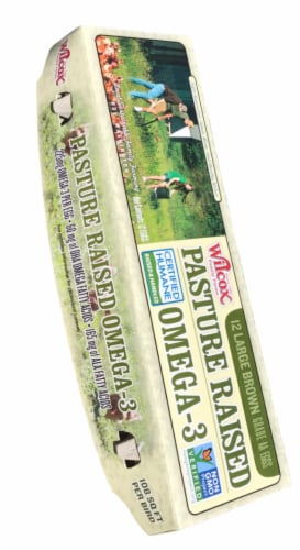 Wilcox Pasture-Raised Omega-3 Large Brown Grade AA Eggs Perspective: front