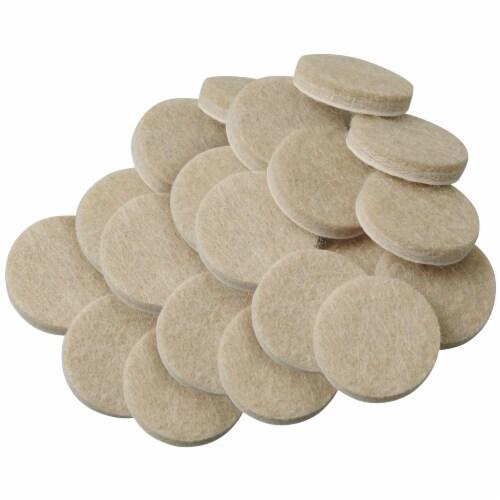 Waxman Self-Stick Felt Pads - 20 Pack - Oatmeal Perspective: front