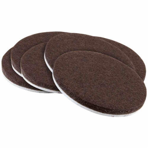 Waxman Round Felt Pads - 6 Pack - Brown Perspective: front