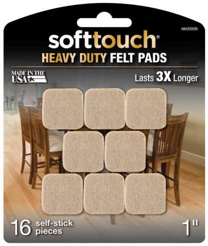 SoftTouch Heavy Duty Outdoor Felt Pads - 16 pc - Oatmeal Perspective: front