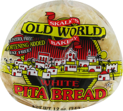 Old World Bakery White Pita Bread Perspective: front