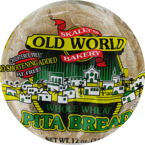 Old World Bakery Whole Wheat Pita Bread Perspective: front