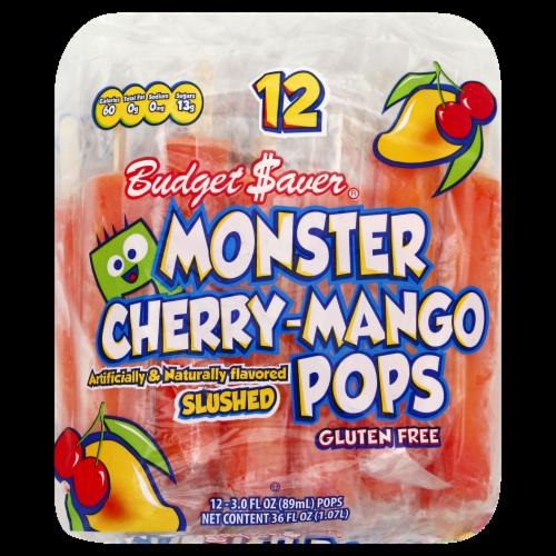 Budget Saver Gluten Free Cherry-Mango Monster Pops Perspective: front