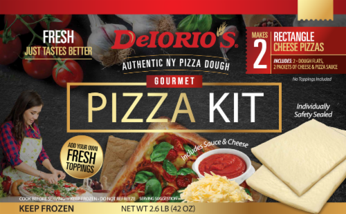 DeIorio's Gourmet Rectangle Cheese Pizza Kit Perspective: front