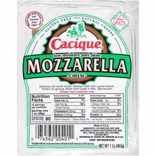 Cacique Low-Moisture Part-Skim Mozzarella Cheese Perspective: front