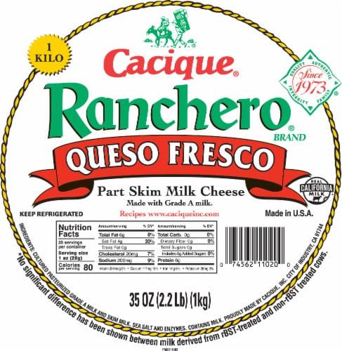 Cacique Ranchero Queso Fresco Kilo Perspective: front