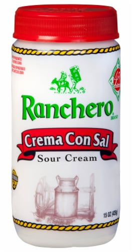 Ranchero Crema Con Sal Sour Cream Perspective: front