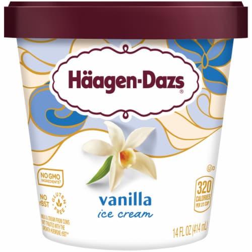 Haagen-Dazs Vanilla Ice Cream Perspective: front