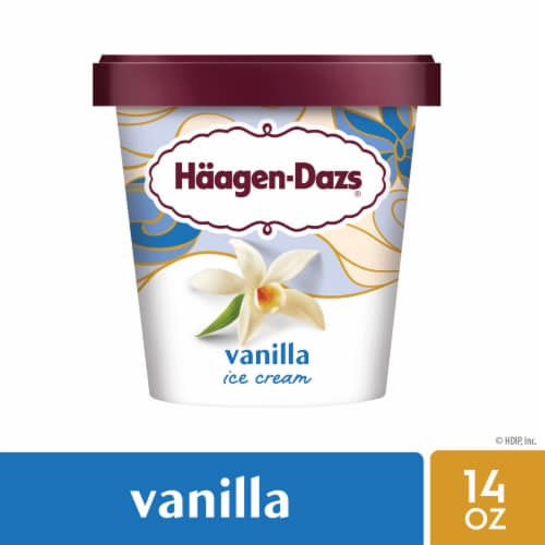 Haagen-Dazs® Gluten Free Vanilla Ice Cream Perspective: front