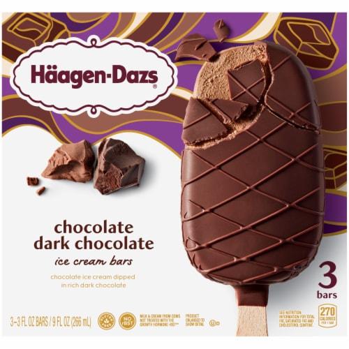 Haagen-Dazs Chocolate Dark Chocolate Ice Cream Bars Perspective: front