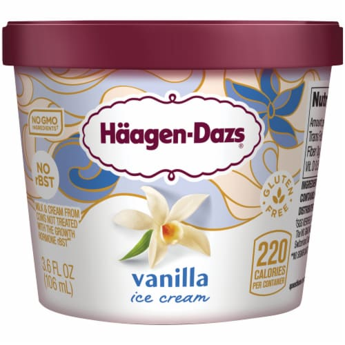 Haagen-Dazs Gluten Free Vanilla Ice Cream Cup Perspective: front