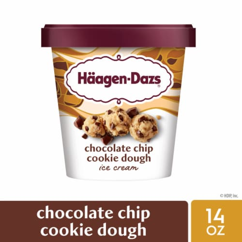 Haagen-Dazs Chocolate Chip Cookie Dough Ice Cream Perspective: front