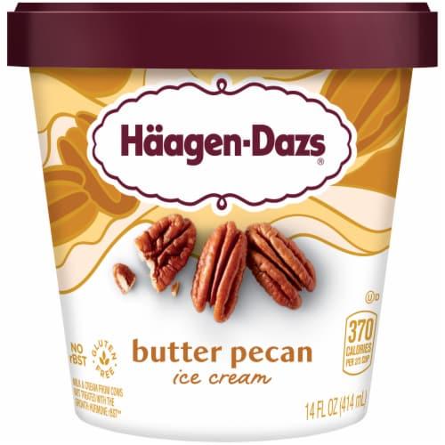Haagen-Dazs Gluten Free Butter Pecan Ice Cream Perspective: front
