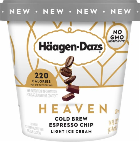 Haagen-Dazs Heaven Cold Brew Espresso Chip Light Ice Cream Perspective: front