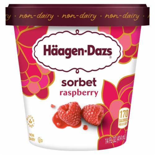 Haagen-Dazs Raspberry Sorbet Perspective: front