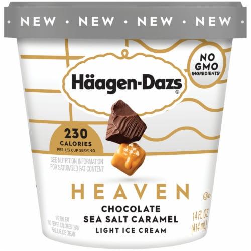 Haagen-Dazs Heaven Chocolate Sea Salt Caramel Light Ice Cream Perspective: front