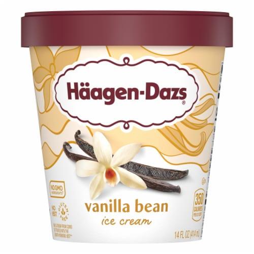 Haagen-Dazs Vanilla Bean Ice Cream Perspective: front