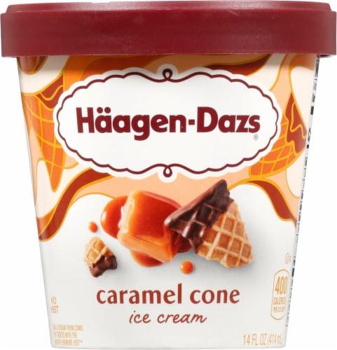 Haagen-Dazs Caramel Cone Ice Cream Perspective: front