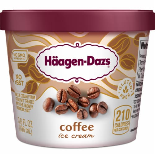 Haagen-Dazs Gluten Free Coffee Ice Cream Cup Perspective: front