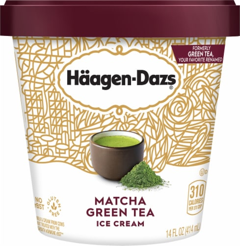 Haagen-Dazs Matcha Green Tea Ice Cream Perspective: front
