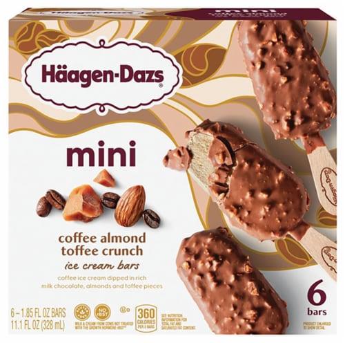 Haagen-Dazs Coffee Almond Crunch Mini Ice Cream Bars Perspective: front