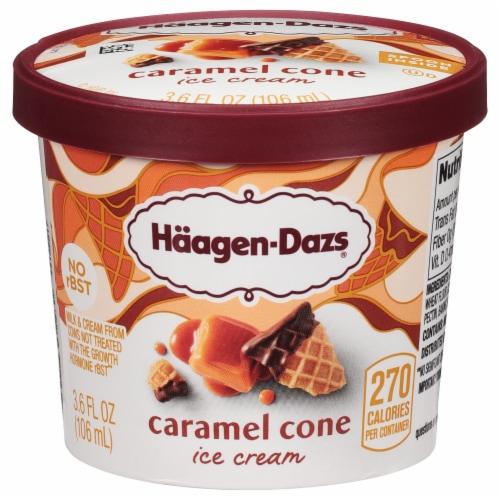 Haagen-Dazs Caramel Cone Ice Cream Cup Perspective: front