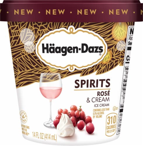 Haagen-Dazs Spirits Rose & Cream Ice Cream Perspective: front