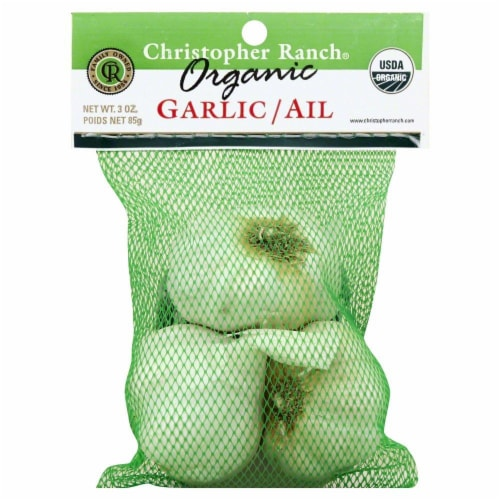 Christopher Ranch Organic Garlic Perspective: front