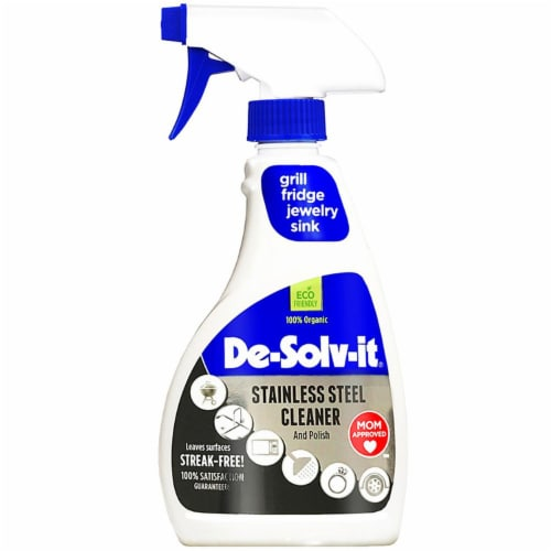 De-Solv-it Stainless Steel Cleaner 12.6oz spray Perspective: front