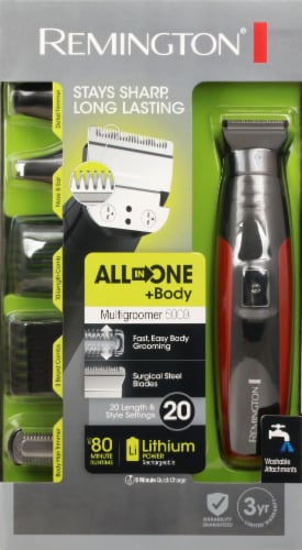 Remington Lithium Head To Toe Grooming Kit Perspective: front