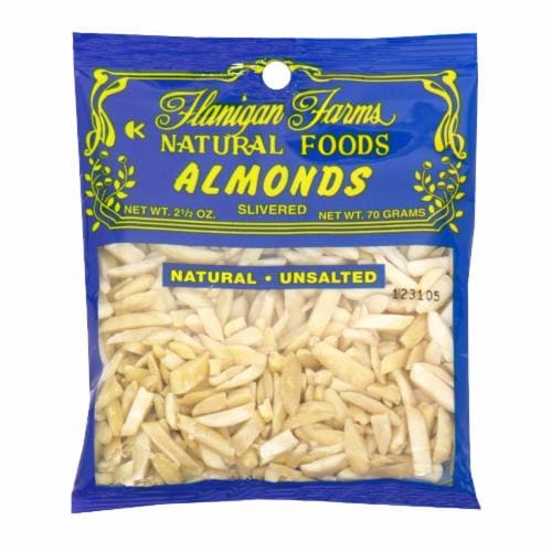 Flanigan Farms Slivered Unsalted Almonds Perspective: front