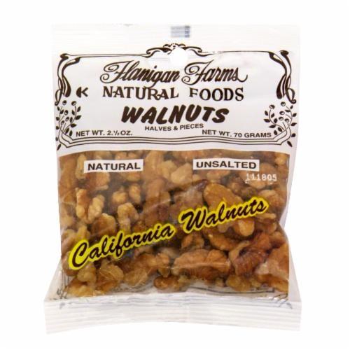 Flanigan Farms Walnuts Halves & Pieces Perspective: front