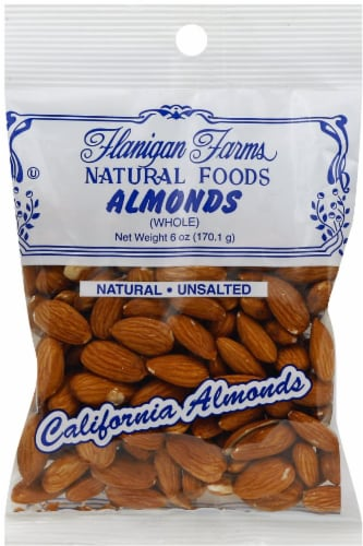 Flanigan Farms Unsalted Whole Almonds Perspective: front