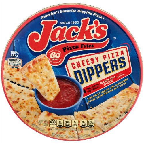 Jack's Pizza Fries Cheesy Pizza Dippers Perspective: front