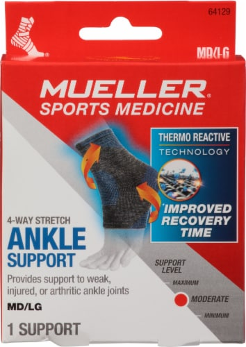Mueller 4-Way Stretch Ankle Support Perspective: front